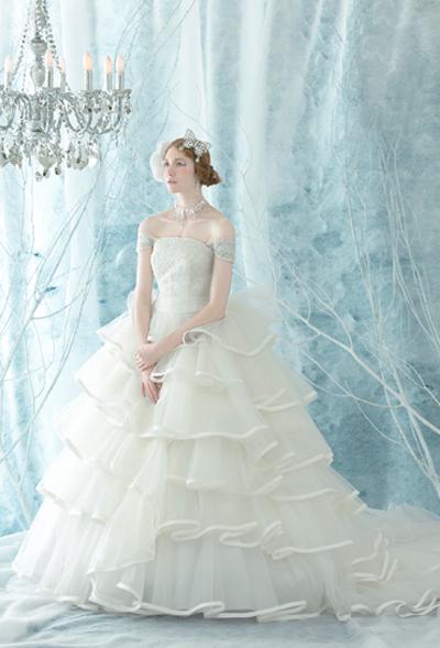 005wd 雪の妖精のようなドレス